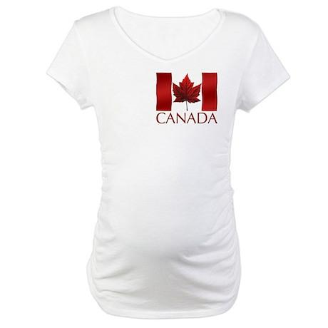 Canada Flag Maternity T-Shirt Canada Souvenir Tops