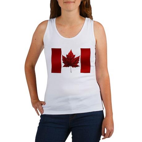 Canada Flag Women's Tank Top Canada Souvenir Top