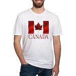 Canada Flag Fitted T-Shirt Canada Souvenir Shirt