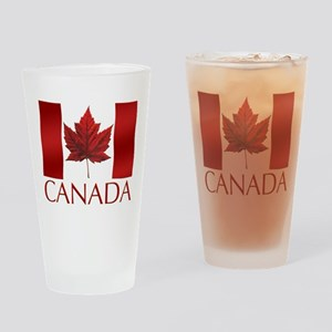 Canada Flag Drinking Glass