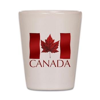 Canada Flag Shot Glass Canada Souvenir