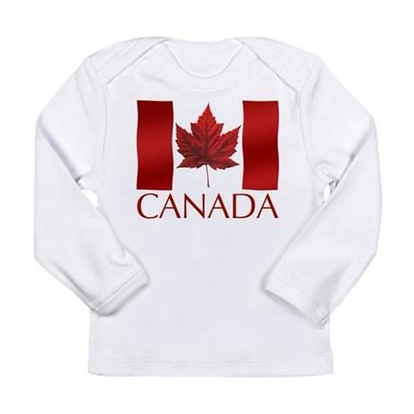 Canada Flag Baby Shirt Long Sleeve T-Shirt