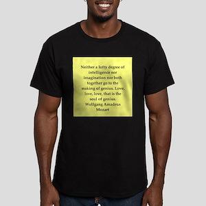 Wolfgang Amadeus mozart Men's Fitted T-Shirt (dark