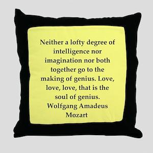 Wolfgang Amadeus mozart Throw Pillow