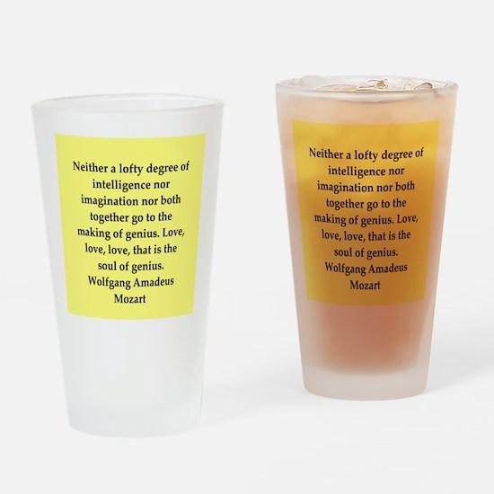 Wolfgang Amadeus mozart Drinking Glass