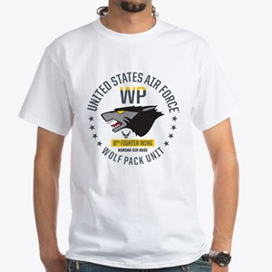 USAF Wolf Pack 8th Fighter Wing White T-Shirt