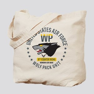 USAF Wolf Pack 8th Fighter Wing Tote Bag
