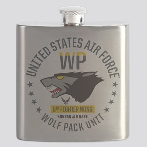 USAF Wolf Pack 8th Fighter Wing Flask