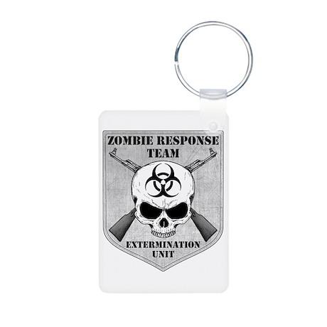Zombie Response Team Aluminum Photo Keychain