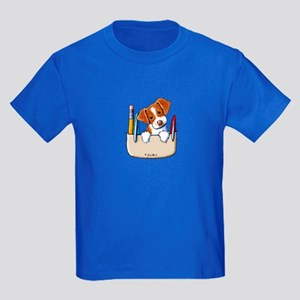 Brittany Pocket Protector Kids Dark T-Shirt