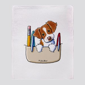 Brittany Pocket Protector Throw Blanket