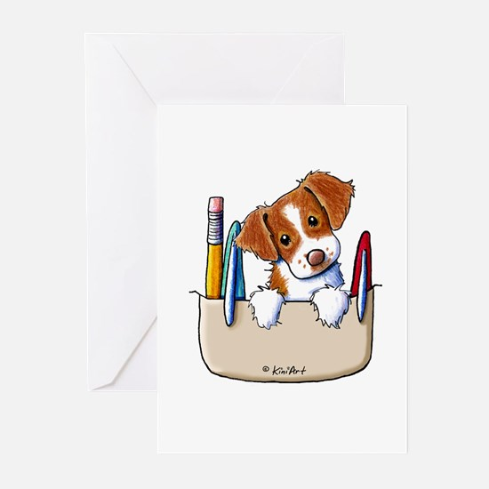 Brittany Pocket Protector Greeting Cards (Pk of 20