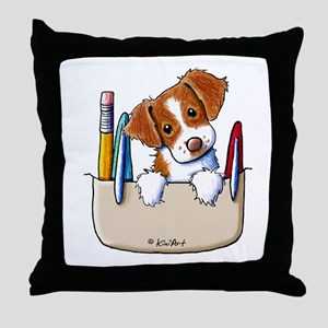 Brittany Pocket Protector Throw Pillow