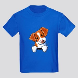 Pocket Brittany Kids Dark T-Shirt
