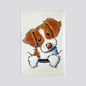 Pocket Brittany Rectangle Magnet