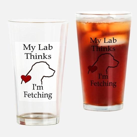 My Lab Thinks.... Drinking Glass