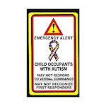 Autism Alert - Child Occupants (Qty 1) 3x5 inches