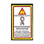 Autism Alert - Child Occupant (Qty 1) 3x5 inches