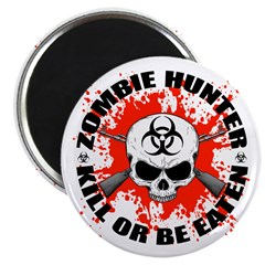 "Zombie Hunter 1 2.25"" Magnet (10 pack)"