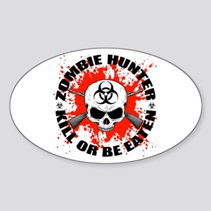 Zombie Hunter 1 Sticker (Oval)