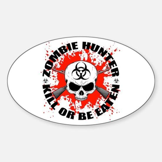 Zombie Hunter 1 Sticker (Oval)