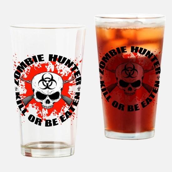 Zombie Hunter 1 Drinking Glass