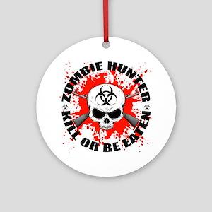 Zombie Hunter 1 Ornament (Round)