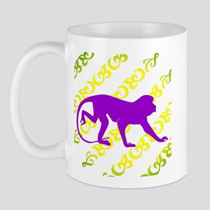 Ancient Purple Monkey Scroll  Mug