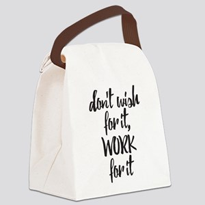 Work For It Canvas Lunch Bag