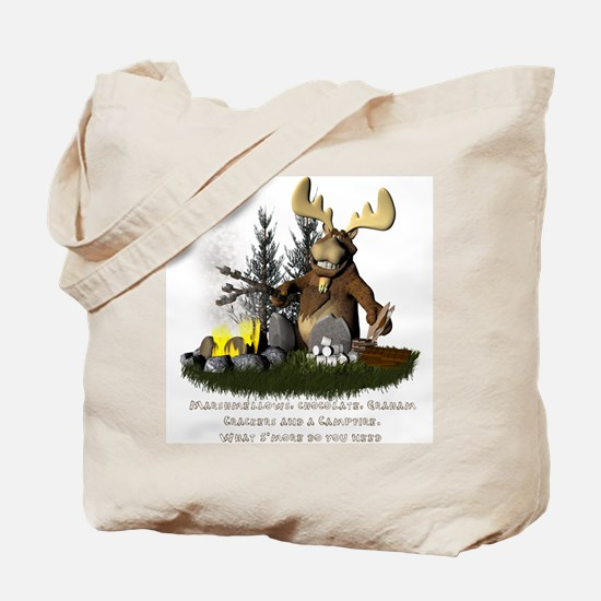 Unique Moose camping Tote Bag