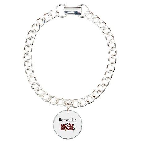 Rottweiler Mom Charm Bracelet, One Charm