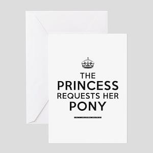 Princess/Pony Greeting Card