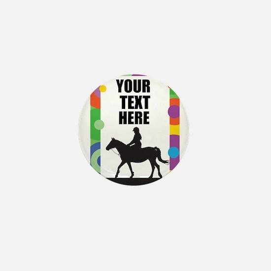 Horse Border Mini Button