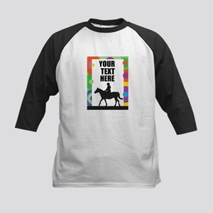 Horse Border Kids Baseball Jersey
