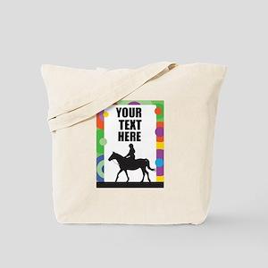 Horse Border Tote Bag