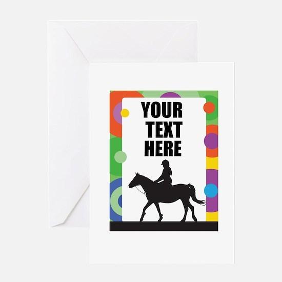 Horse Border Greeting Card