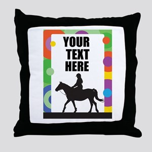 Horse Border Throw Pillow