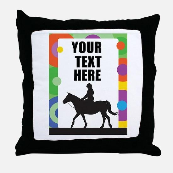 Horse Border Throw Pillow