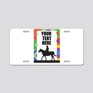 Horse Border Aluminum License Plate