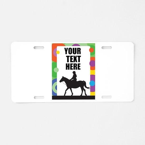 Horse Border Aluminum License Plate