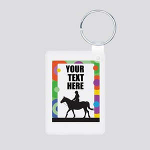 Horse Border Aluminum Photo Keychain