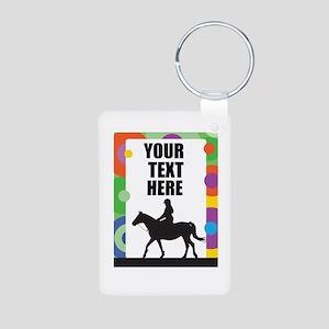 Horse Border Aluminum Photo Keychain