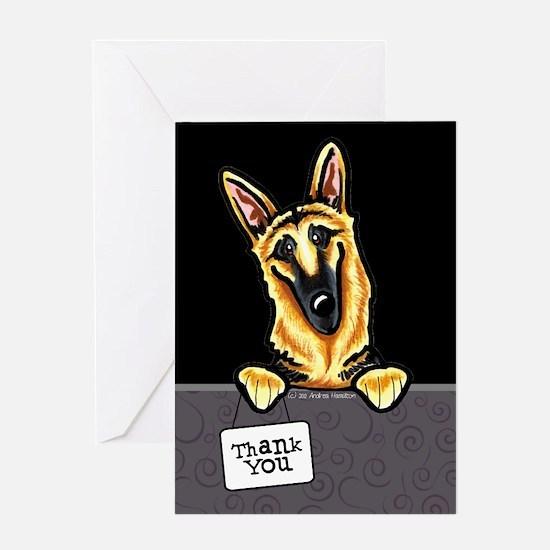 German Shepherd Thank You Greeting Card