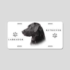 Black Lab Aluminum License Plate