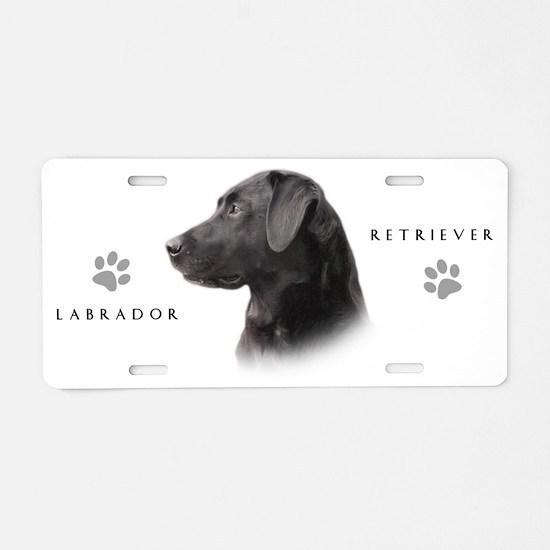 Black Lab Aluminum License Plate