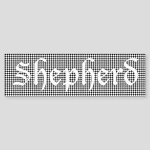 Tartan - Shepherd Sticker (Bumper)