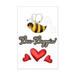 Bee Boppin Bumble Bee Mini Poster Print