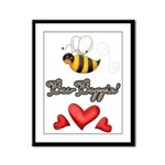 Bee Boppin Bumble Bee Framed Panel Print