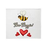 Bee Boppin Bumble Bee Throw Blanket
