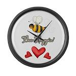 Bee Boppin Bumble Bee Large Wall Clock